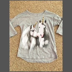 JUSTICE Girls Unicorn Top Size 8